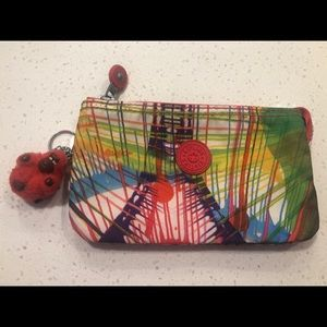 Authentic Kipling Multicolor Zipper Pouch